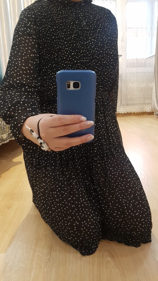 Fashion Spring Autumn Chiffon Dresses Women'S Print Dress Casual Floral Dress With Belt Long Sleeve Thick Dress photo review