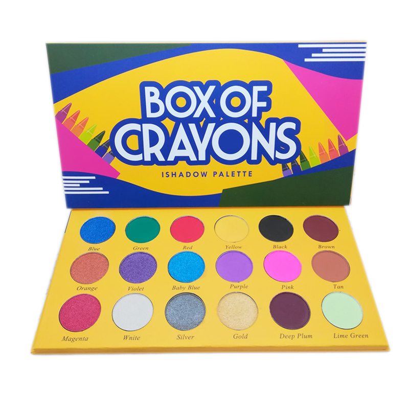 18 Colors Crayons Box Glitter Eyeshadow Pallete Makeup Shimmer Matte Pigment Eyeshadow Palette Sombras Profesional Maquillaje