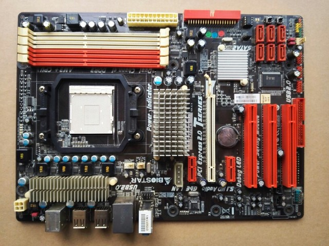 US $49 11 |Used original 770 motherboard for Biostar TA770E3 DDR3 Socket  AM3 boards 16GB USB2 0 mainboard Free shipping,100% tested good-in