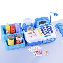 Finger Rock Simulation Cash Register Pretend Play Toys Weighing Scanner Display