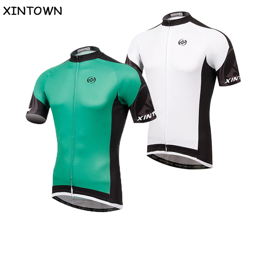 XINTOWN Bike Jersey Cycling Jersey Tops Bicycle 2017 Green or White Cycling Equipment Bike Jersey 17 Jacket 17 Top 2017 Sleeve