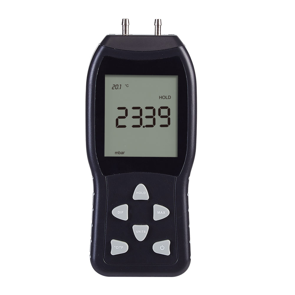 NK-L3 Air Pressure Gauge , Professional LCD Digital Pressure Gauge Differential