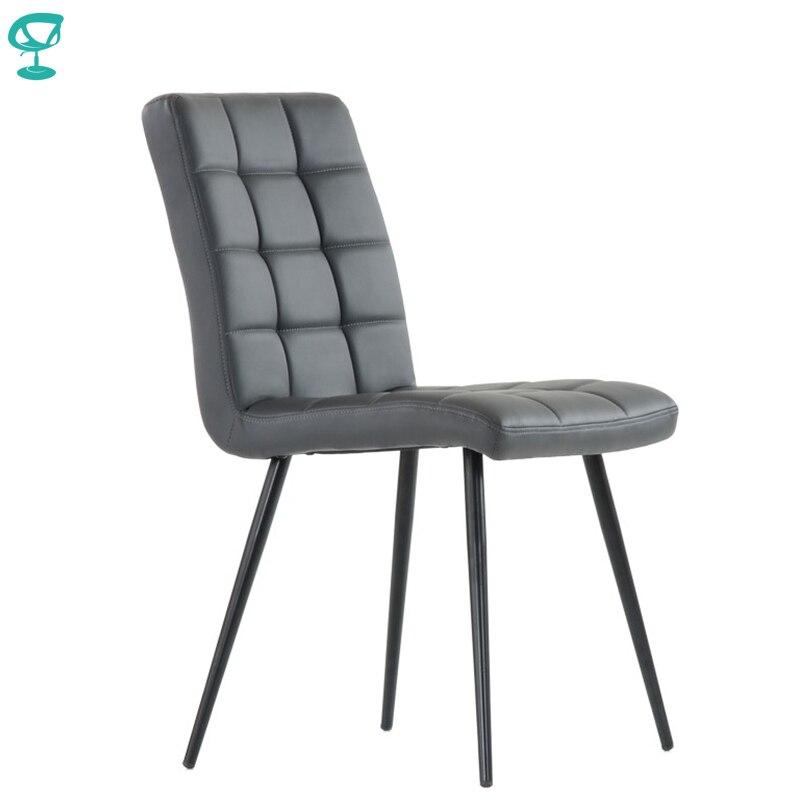 S48L2PuGray Barneo S-48 Eco-Skin  Kitchen Breakfast Interior Stool Bar Chair Kitchen Furniture Gray Free Shipping In Russia