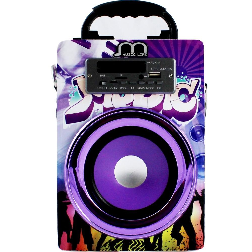 Портативный Bluetooth динамик портативный караоке динамик с микрофоном FM радио TF карта 3 цвета дешево