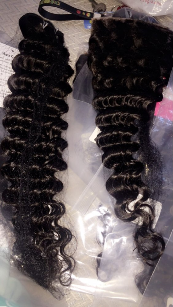 Бразильский глубокая волна волос топ человеческих волос Связки с закрытием бесплатная часть 3/4 Связки с закрытием Shuangya Волосы remy расширения