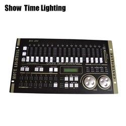 쇼 시간 최대 384 dmx 컨트롤러 무대 조명 dmx 마스터 콘솔 XLR-3 led 파 빔 이동 헤드 dj 빛 무대 효과 빛