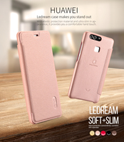for huawei p9 leather case Lenuo ledream series SOFT&SLIM Luxury flip case for huawei p9 whole protective cover