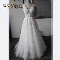 Lace A Line Wedding Dresses Appliques Wedding Gowns Wedding Wedding Bridal Bride Gowns Dress Weddingdress vestidos de noiva