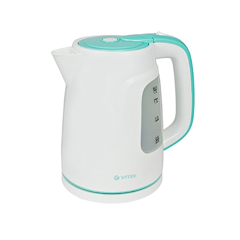 Electric kettle Vitek VT-7022 (W) (Power 2200 W, volume 1.7 liters, auto power off, water level indicator) electric water kettle haier hek 182 auto power off protection wired handheld instant heating electric kettle