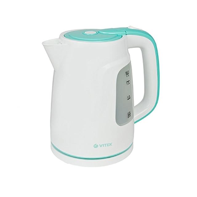 Чайник электрический Vitek VT-7022(W) (Мощность 2200 Вт, объем 1.7 л, автоотключение, индикатор уровня воды)