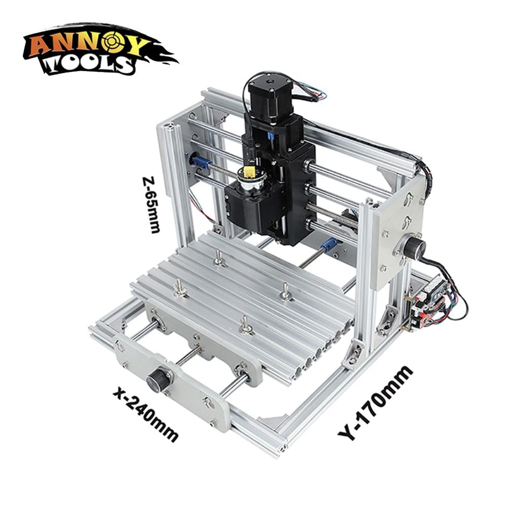 CNC2417 diy cnc machine de gravure 0.5 w-5.5 w mini Pcb Pvc Fraiseuse, métal Bois Sculpture machine, cnc routeur, GRBL contrôle