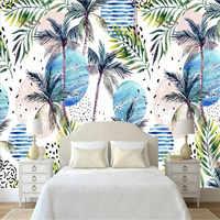 Современный минималистичный тропический лес растение кокосовое дерево фреска фон стены производители оптовая продажа Обои фреска на зака...