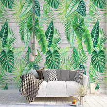 Nordic Minimalist Tropical Plant Turtle Leaf Background Wall Painting Manufacturer Wholesale Wallpaper Mural Custom Photo