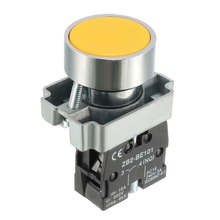 UXCELL 1PCS 22mm Switch Mounting Hole Green Red Yellow Blue LED Light Push Button Switches SPST NO Switch Accessories Supplies 5x black red green yellow blue 12mm waterproof push button switch ve059 p0 06