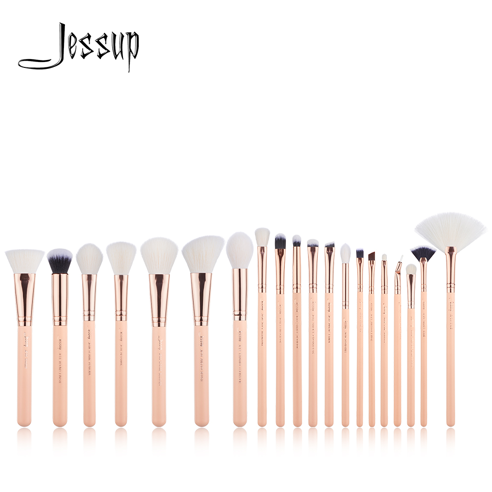 NEW Jessup brushes 20PCS Professional Makeup brushes set Cosmetic tools Make up brush POWDER FOUNDATION LIP BLUSHER 1pc new retractable makeup brushes professional face powder blush brush cosmetic brush tools portable soft makeup blusher brush