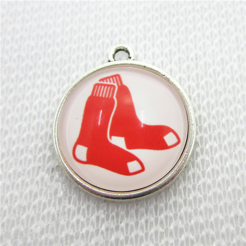 10pcs/lot US Boston Red Sox Dangle Charms Hanging Charm Baseball Sport DIY Bracelet&Bangles Jewelry Accessory Charms