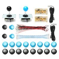 DIY Arcade Joystick Kit Parts USB Encoder Controller PC Joystick With 20 Push Button Joystick Cable
