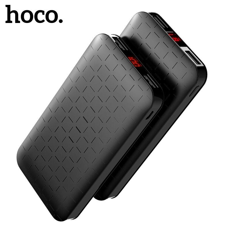 HOCO 10000 mah Puissance Banque Ultra-mince Polymère Powerbank Double USB 5000 mah Externe Batterie LED Affichage pour iPhone X XS Max Xiaomi