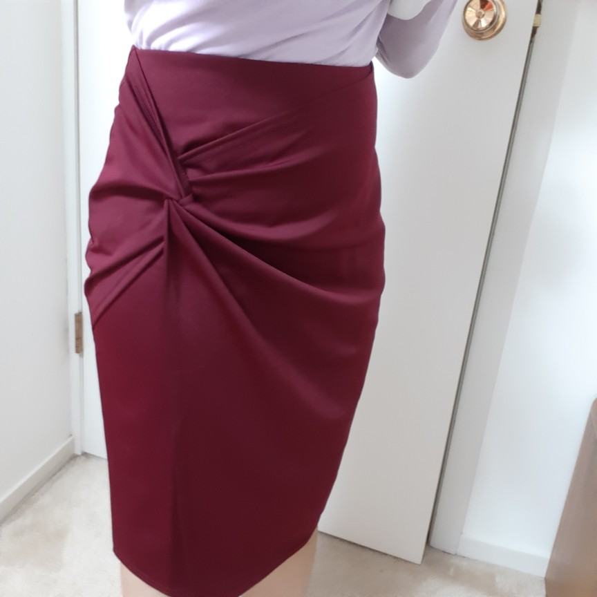 Ladies Women Mini Skirts Autumn Fall Asymmetrical Wrap Front Knee Length Stretch Pencil Bodycon Skirt Jupe Femme Office Ol Skirt photo review