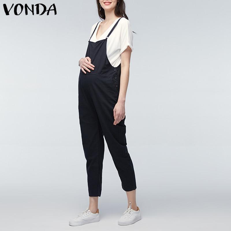 VONDA Maternity Clothings 2018 Gravid Rompers Dame Jumpsuits Casual - Graviditet og moderskab - Foto 3