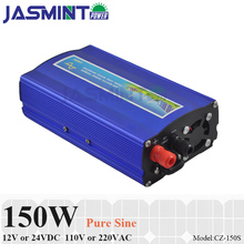 цена на 150W 12V/24V DC to AC110V/220V off grid pure sine wave power inverter , suitable for small home solar or wind power system