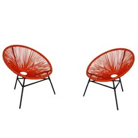 Outdoor furniture. Chairs Outdoor garden. Pack 2 ACAPULCO chairs. Ideal for terraces, balconies, patios. Muebles de Exterior.