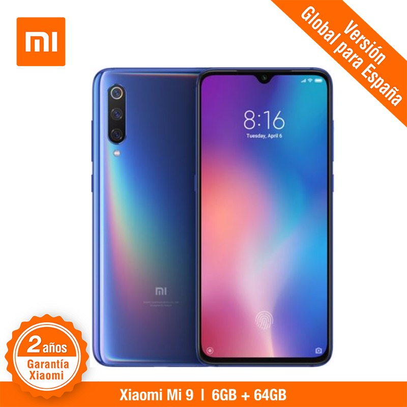 Global Versão para Espanha] Xiao mi mi 9 (Memoria interna de 64 GB, RAM de 6 GB, Triple MP camara de 48) smartphone