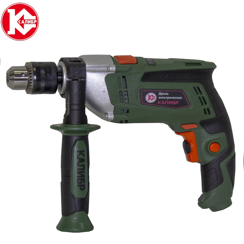 Kalibr DEMR-1050ERU electric drill household impact drill multi-function drill wall screwdriver gun light hammer powder tools laoa 810w 13mm multi functional household electric drills impact drill power tools for drilling ceremic wood steel plate
