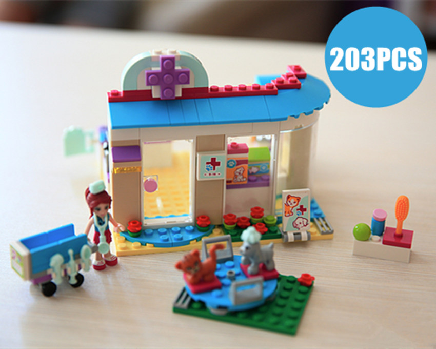 Heartlake Amis ANIMAUX hôpital vétérinaire Clinique fit legoings amis figures 41085 modèle Blocs Ensembles Briques Bricolage jouets cadeau enfant