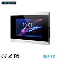 HOMSECUR  BM715-S Indoor Monitor Touch Screen Monitor 6 languages supported for HDK Series 1V1 1V2 1V3 1V4 2V1 2V2 2V3 2V4