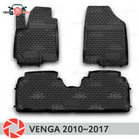 Tapis de sol pour Kia Venga 2010 ~ 2017 tapis antidérapant polyuréthane protection contre la saleté accessoires de style de voiture intérieure