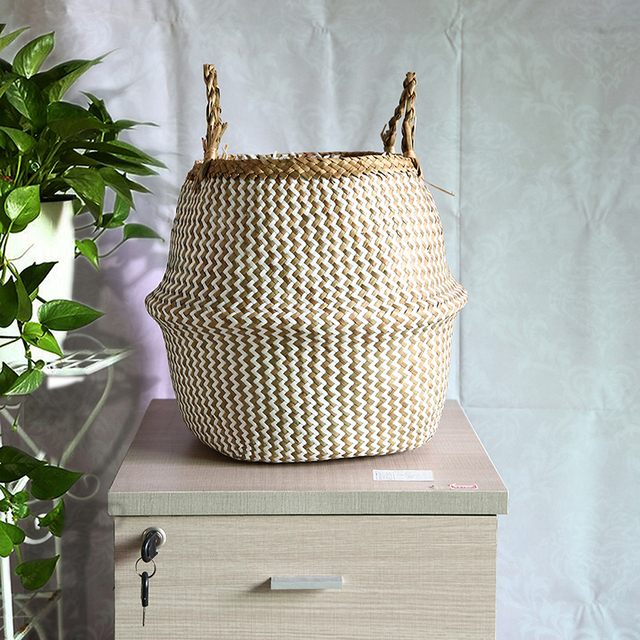 Natural Sea Grass Home Basket
