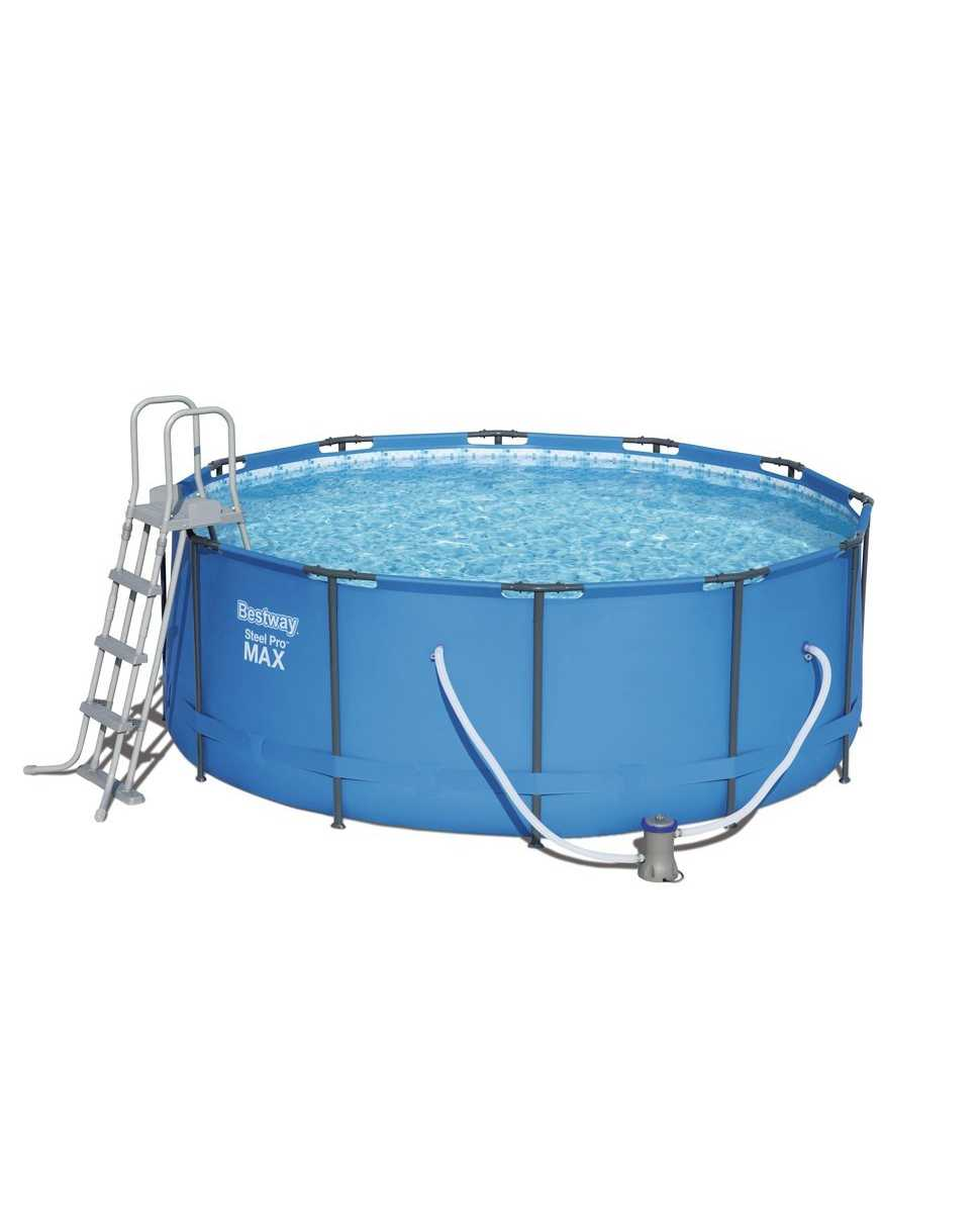 Scaffold Round Pool For Garden Leisure Summer Outdoor Size 366 х133 Cm, Volume 11440 L, арт.15427, Bestway