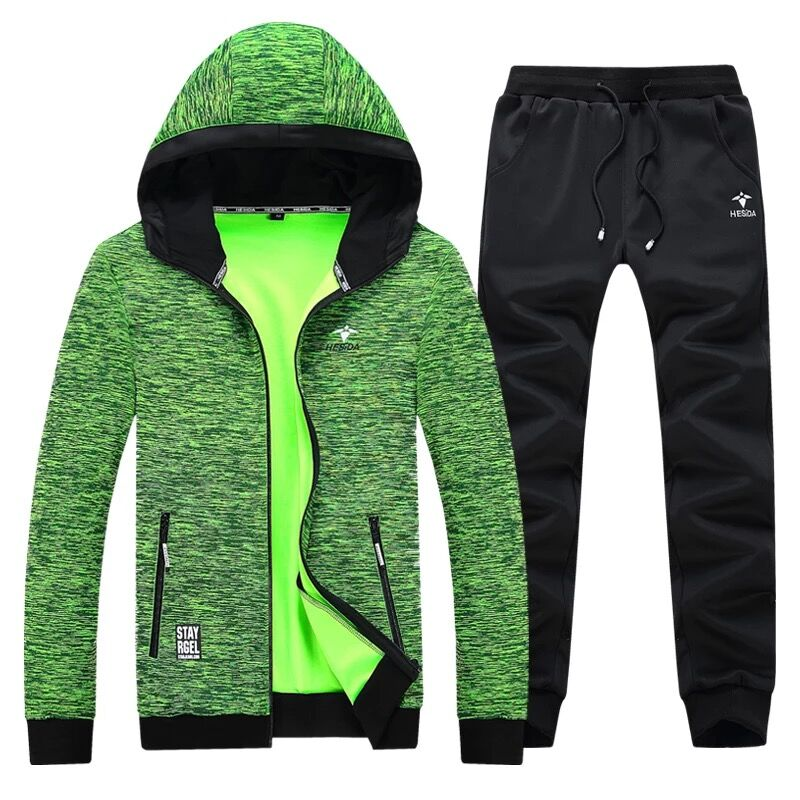 Hoodie Pants 2 Piece Men Sport Set Tracksuit Brand Zipper Hoodies Jacket Men Set Autumn Sweater Pant Sweatshirt Hood Coat Suit