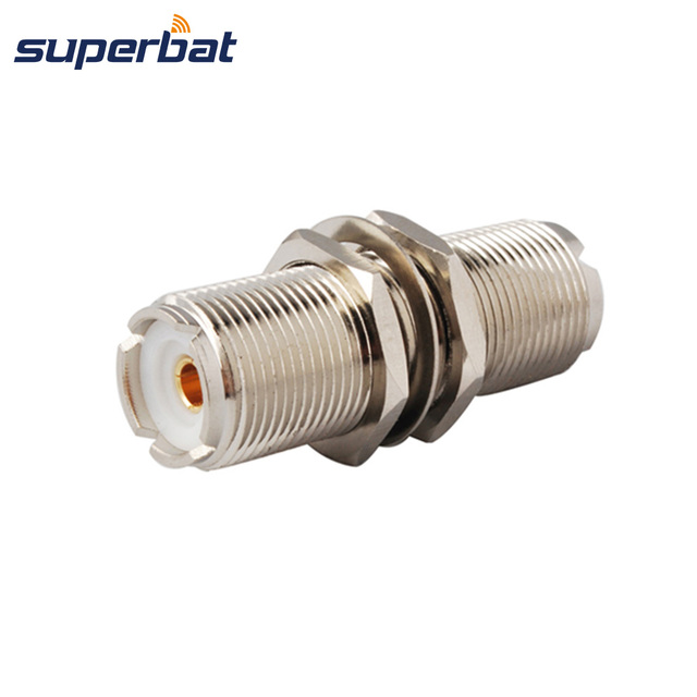 Superbat 2 Pack UHF SO 239 Jack to Female for CB Two Way Mobile Radio Connector Adapter