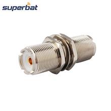 Superbat Adaptador de conector de Radio móvil bidireccional, UHF SO 239, 2 unidades