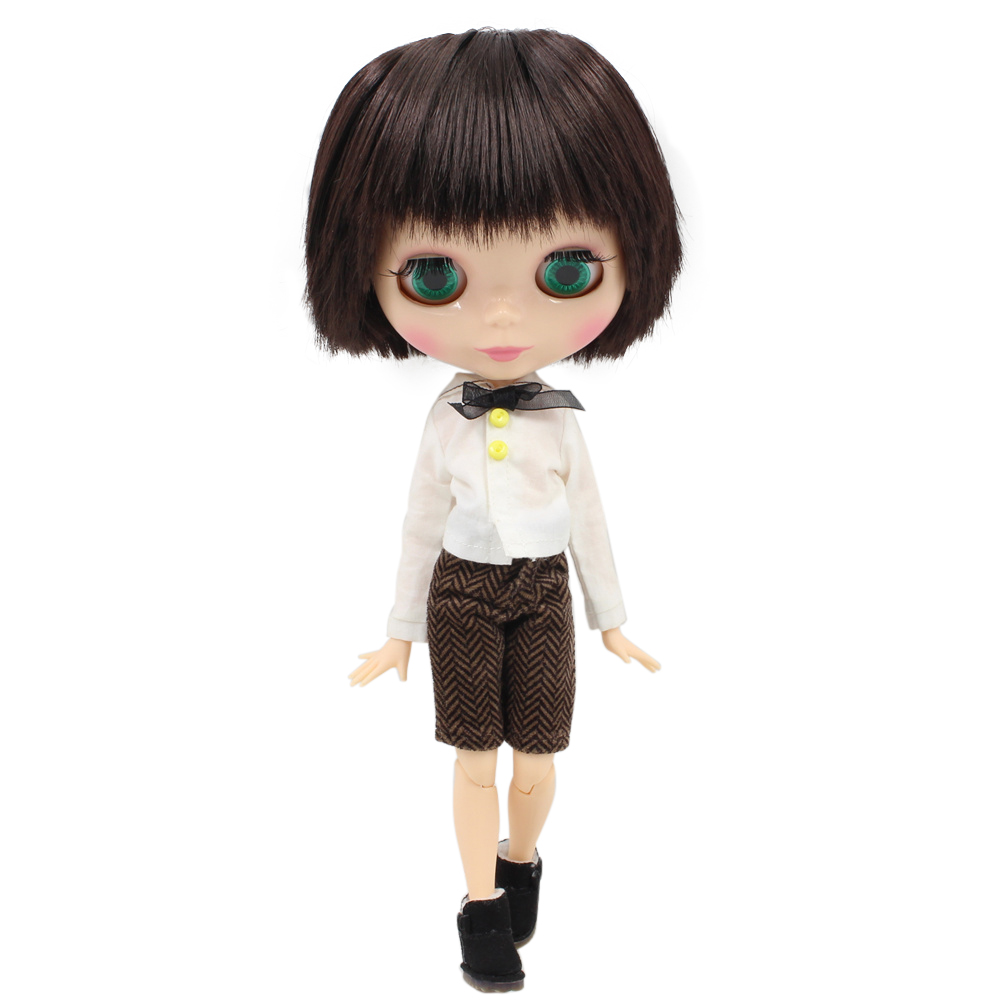 Fortune Days Nude Blyth doll Male doll Series No BL0312 Black Brown hair Male Joint body