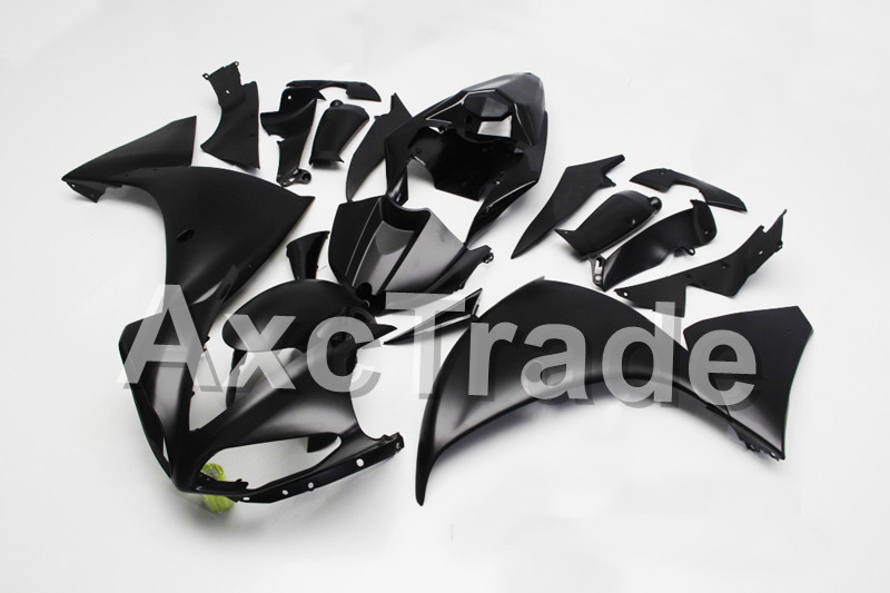 Motorcycle Fairings For Yamaha YZF R1 1000 YZF-R1 YZF-R1000 2009 2010 2011 ABS Plastic Injection Fairing Bodywork Matt Black Kit high quality abs fairing kit for yamaha r1 2002 2003 red flames in black fairings set injection molding yzf r1 02 03 yz32