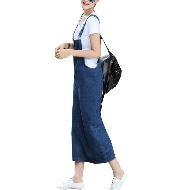 Summer Womens Sleeveless Denim Strap Jeans Dress Female Casual Party Slim Split Pockets Vestido Dungarees Sundress 2018