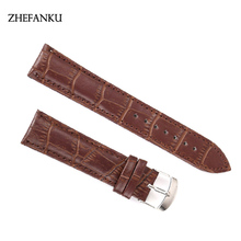 PU Leather Watchband Black Brown Smooth Soft Watch Strap Men Women Faux Leather Belt Metal Pin Buckle Relojes Hombre