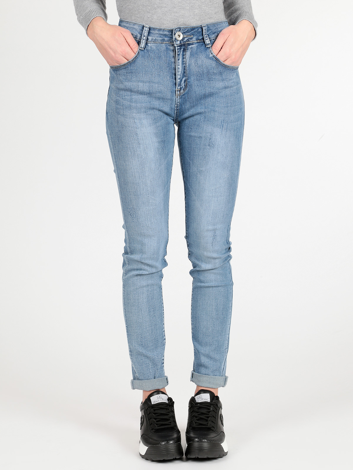 FIONINA JEANS Jeans Woman 2019 Spring New Slim Matching Broad-legged Straight