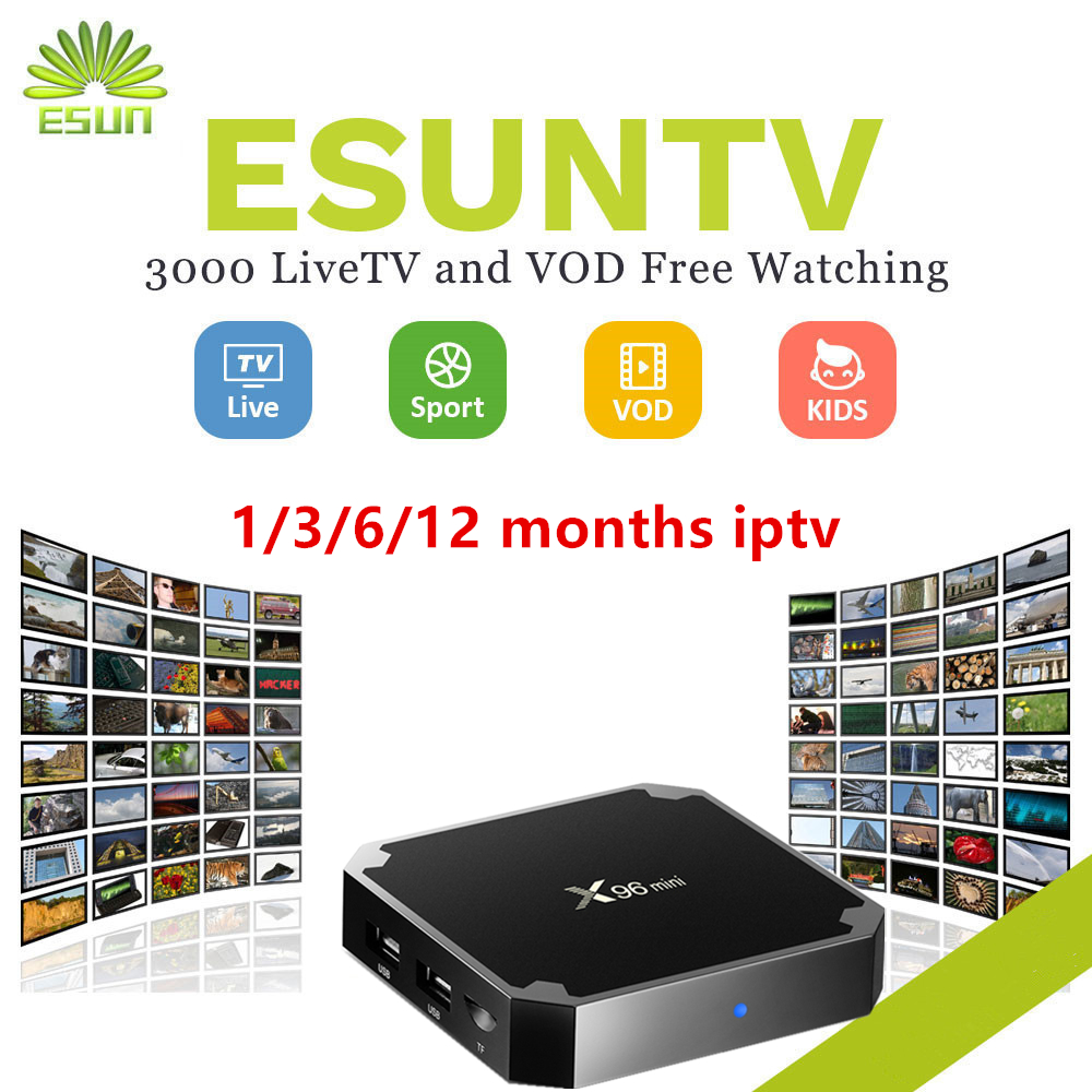 with1/3/6/12 Months 4000+ Live+vod+EPG TV IPTV M3U ENIGAM2 Androd