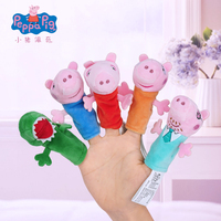 5 Pcs/Set Original Peppa Pig Plush Toy Animal Gloves Toy Baby Sleep Finger Doll Children Comfort Hand Puppet Toys Gift
