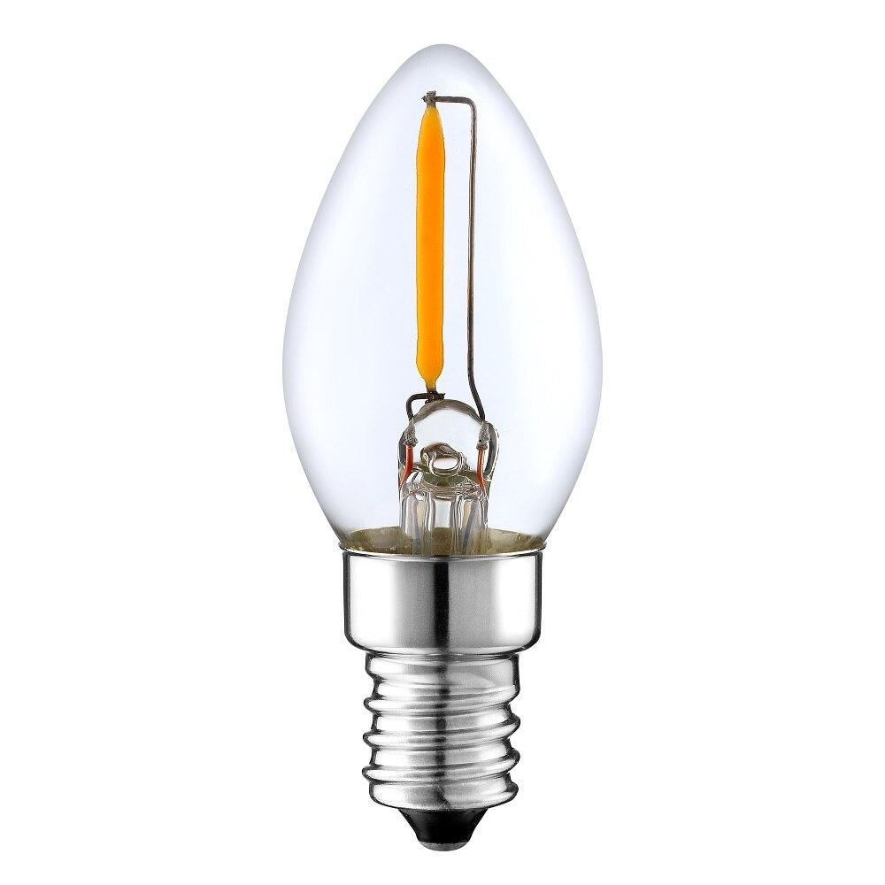 40 Watt Edison Retro Vintage Warmweiß Dekoration Kerze Glühbirne Filament E14