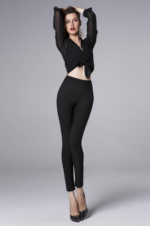 2019 Le Donne di Nuovo Modo Classico Elastico Sottile Leggings Sexy imitazione Jean Skinny Jeggings Pantaloni Skinny vendita calda OEMEN 8823