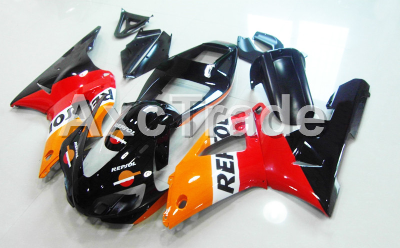Motorcycle Fairings Kits For Yamaha YZF1000 YZF 1000 R1 YZF-R1 1998 1999 98 99 ABS Injection Molding Fairing Bodywork Kit B1015 custom motorcycle fairing kit for kawasaki ninja zx9r 1998 1999 zx9r 98 99 black flames blue abs fairings set 7 gifts sg10