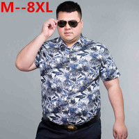 plus size 10XL 9XL 8XL 7XL 6XL 5XL 4XL 2018 Fashion Mens Short Sleeve Hawaiian Shirt Summer Casual Floral Shirts For Men