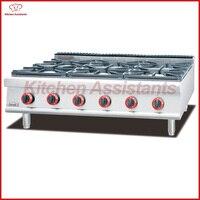 GH797 1 газовая плита с 6 горелки сочетание духовка