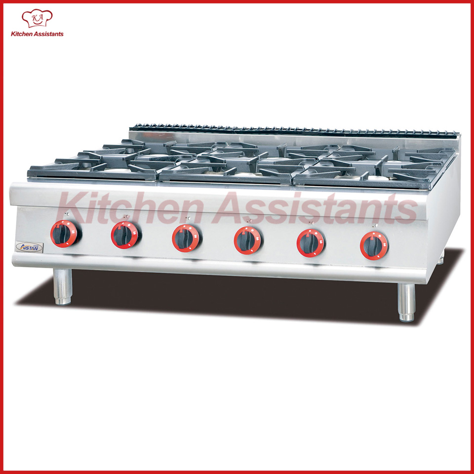 GH797-1 gas range with 6 burner of combination oven gh2 gas range with 2 burner for commercial use