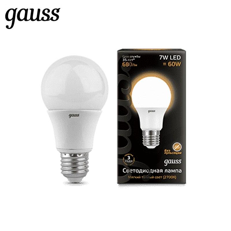 Lâmpada LED diodo E27 A60 7 W 10 W Gauss 12 W 2700 K 4100 K Luz Branca Fria lampada Branca quente Ampola Bombilla Lâmpada Luz
